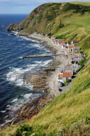 east coast: Colorful scottish village on the east coast Stock Photo