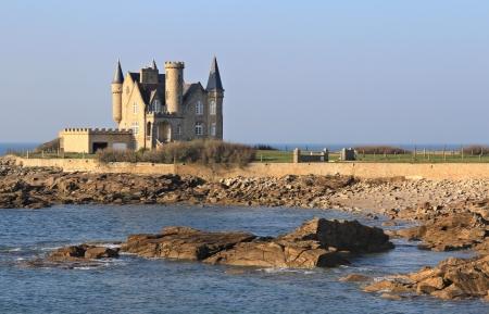 granit: Quiberon castle detail. Wild coast, Brittany ,France