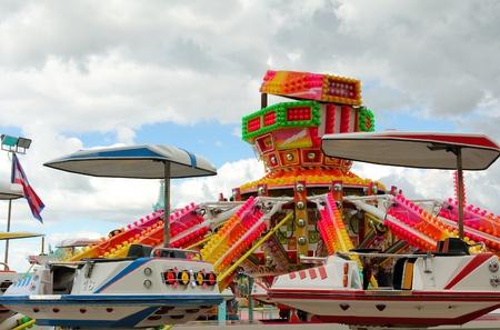 Space war battleship attraction at the amusement park