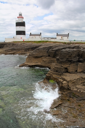 Irish lighthouse of Hook Head in Wexford county. Ireland photo