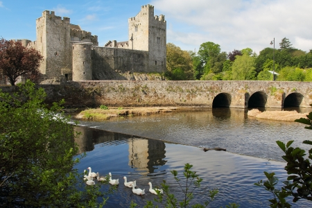 Irish castle of Cahir in Tipperary county. Morning light