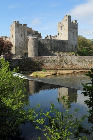 eire: Irish castle of Cahir in morning light . Tipperary county , Ireland Editorial