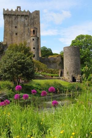 Iers kasteel van Blarney, beroemd om de steen der welsprekendheid. Ierland Redactioneel