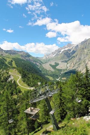 courmayeur: Hermoso paisaje de monta�a de Miage Glaciar de Mont Chetif Courmayeur, Italia