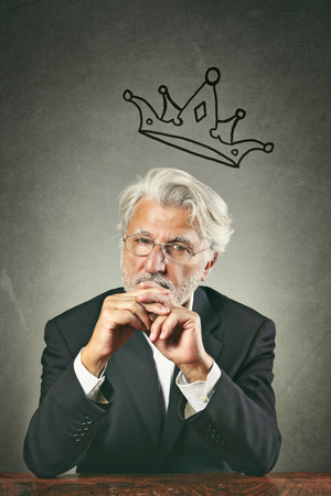 White hair business leader portrait.  Boss and leadership concept photo