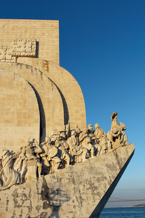 discoveries: Monument to the Discoveries , historical memorial in  Lisbon Editorial