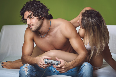 Sexy woman and man video