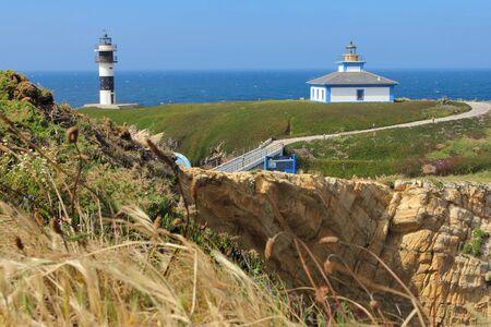 northern spain: Illa Pancha lighthouse in northern Spain Stock Photo