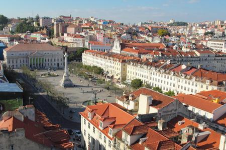 justa: Rossio Square from Santa Justa lift. Lisbon , Portugal