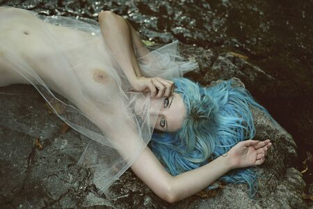 sea nymph: Spirit of the river . Fantasy and myth Stock Photo