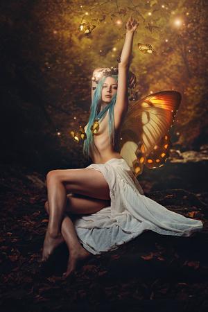 alien women: Titania , queen of the fairies . Fantasy and magic