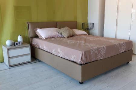 Simple modern bedroom . Furniture store