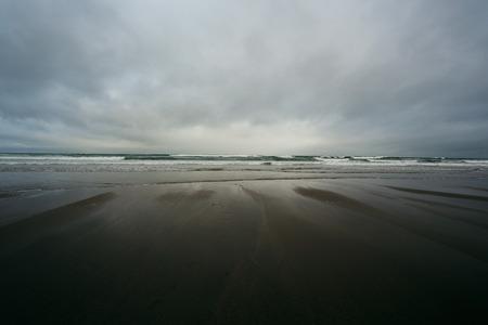 photomanipulation: Dramatic sea and beach background ready for photomanipulation Stock Photo
