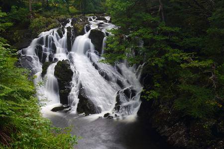 snowdonia: Beautiful Swallow falls in Snowdonia national park . Wales