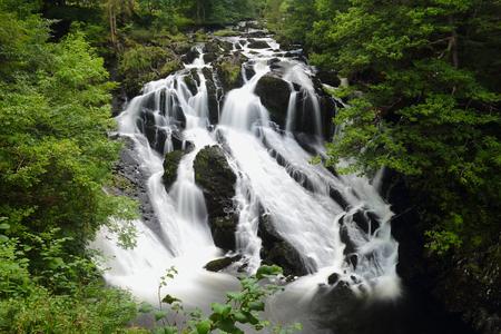 snowdonia: Swallow falls in Snowdonia national park . Wales