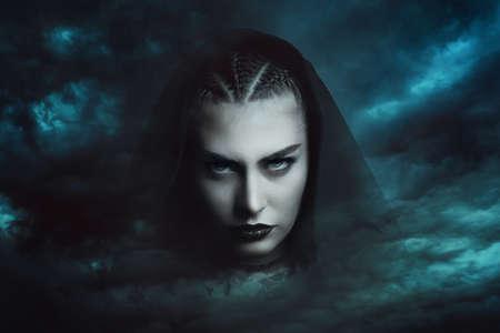 Powerful storm witch  . Dramatic cloudscape Stok Fotoğraf