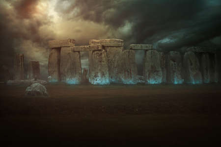 Magical stones of Stonehenge .Fantasy manipulation