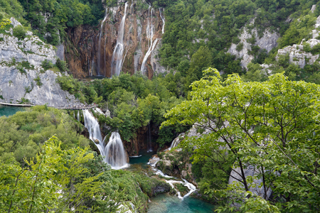 Plitvice lakes national park. Croatia