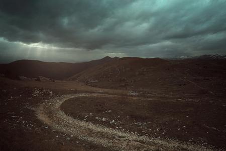 Desolate landscape in Abruzzo. Italy