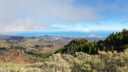 View from the mountains to Las Palmas, Gran Canaria, Spain photo