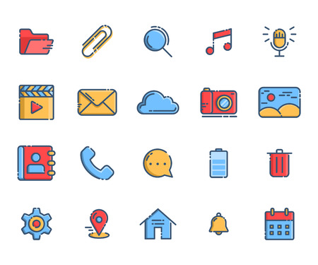 Smartphone Menu Icons