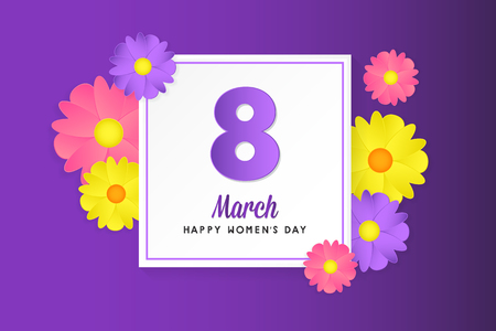 8 march womens day greeting card poster banner background