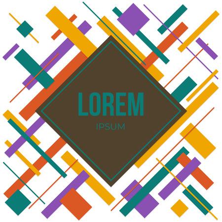 Minimal covers design. Abstract vintage retro color. Future geometric template. Çizim
