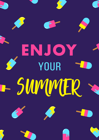 enjoy your summer ice cream poster