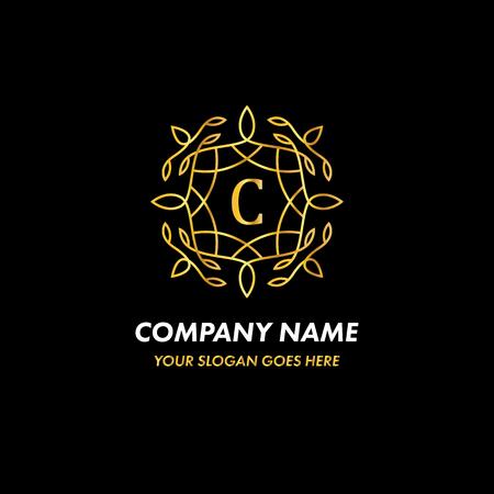 Monogram Letter C Logo Concept Illustration