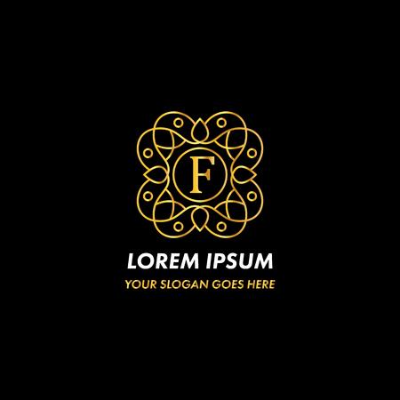Monogram Letter F Logo Concept