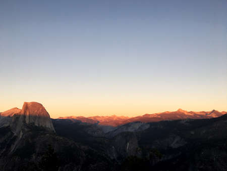 Yosemite sunset Stock Photo