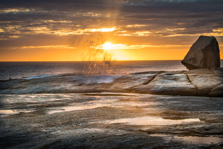 Sunrise over the Bicheno Blow Hole