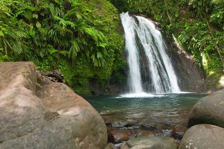 Waterfall on the Guadeloupe island