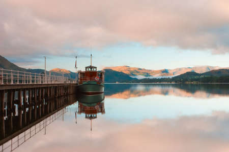 Typical lanscape in Lake District in Great Britain photo