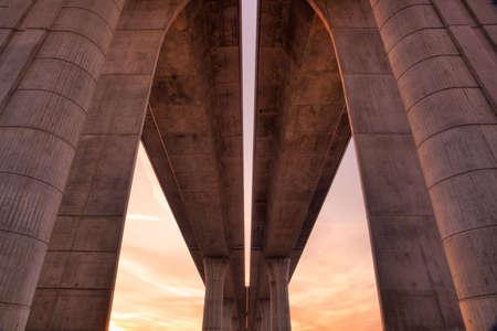 Detail of highway bridge photo