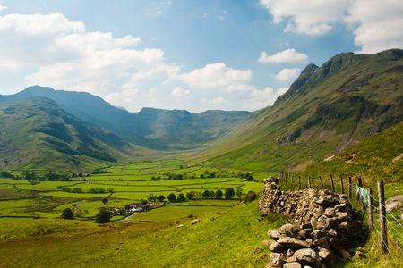 Langdale - landscape in Lake District