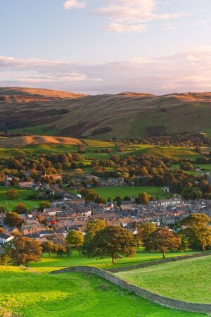 dales: Sedbergh - small town in Yorshire Dales National Park Stock Photo