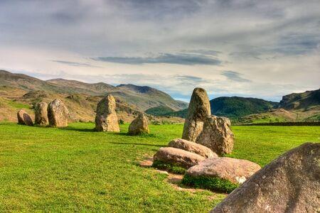 Famous Castlerigg Stones Circle in Keswick in Great Britain Stock Photo