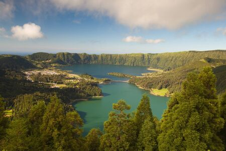 Caldeira - lakes on the san Miguel Island , Azores, Portugal