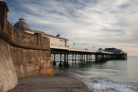 A view of Cromer Pier from the beach