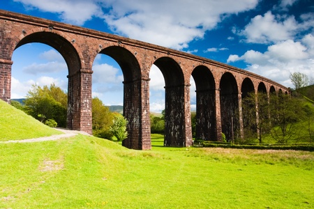 Lowgill viaduct in Yorkshire Dales in Great Britain