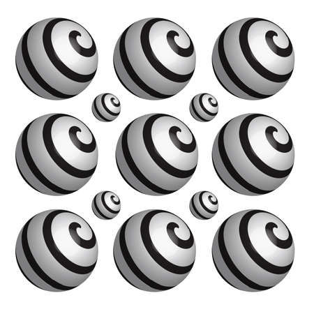 spares: Black and white balls