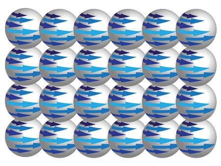 The symmetry spheres with blue arrows Stock Vector - 9329915