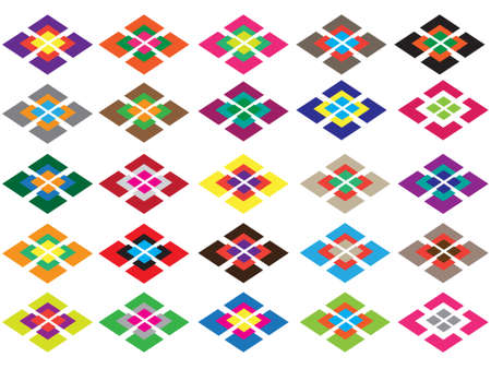 parallelogram: The symmetry ornament with parallelograms