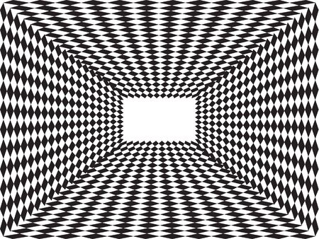 The open black and white box with parallelograms