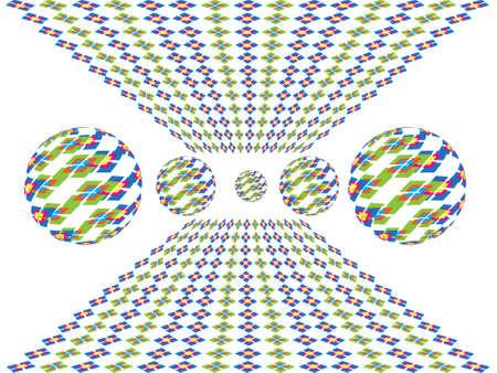 parallelogram: Las esferas de vidrio con paralelogramo en el espacio