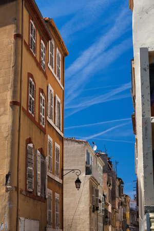 Beautiful narrow street in Marseille photo