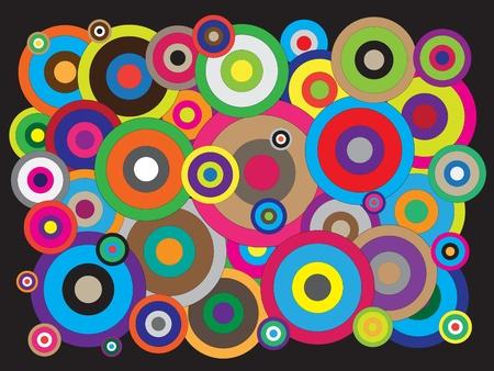 Different circles colorful vectors