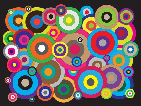illusions: Different circles colorful vectors