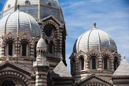 marseille: Detail van Marseille kathedraal